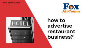 how to advertise restaurant business