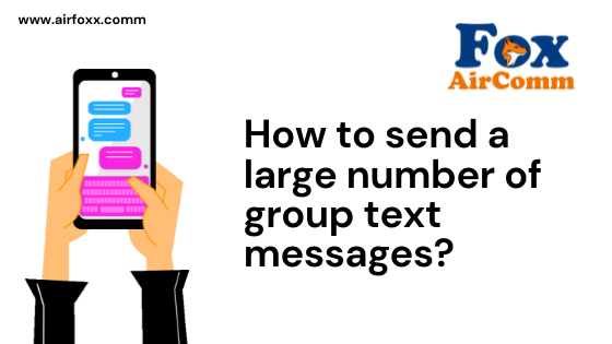 How to send a large number of group text messages?